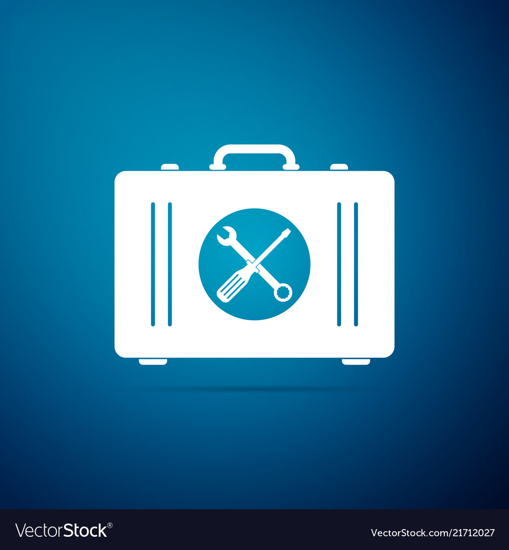 Toolbox icon isolated on blue background