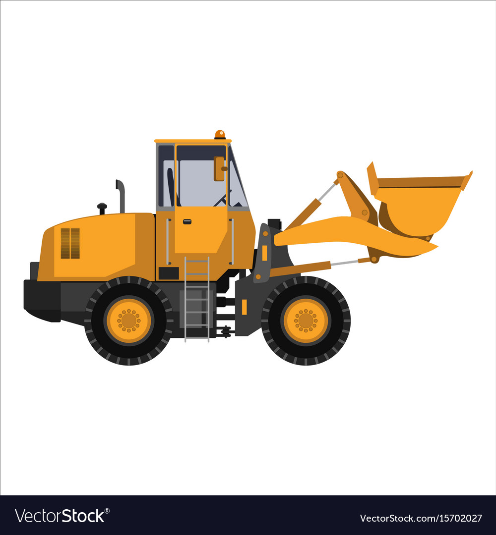 Tractor with a bucket
