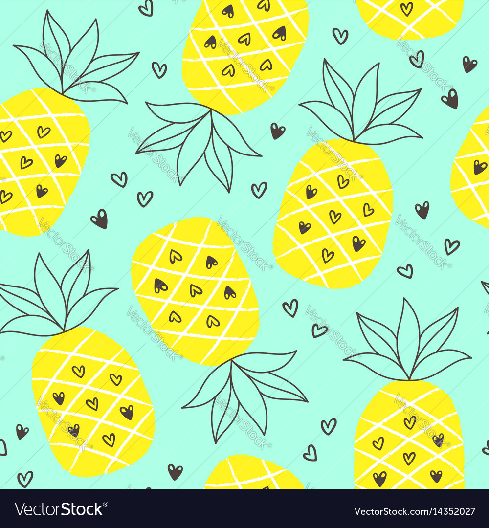 Tropical summer seamless background vector image