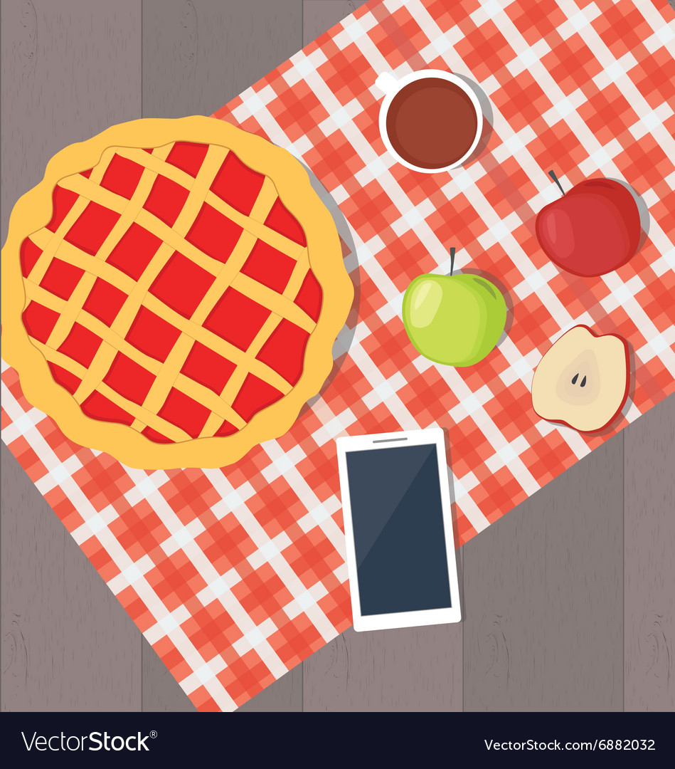 Apple pie and smart phone