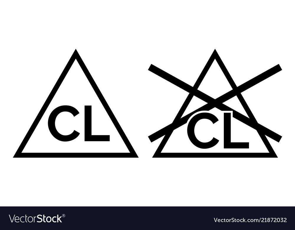 Chlorine no bleach sign icons