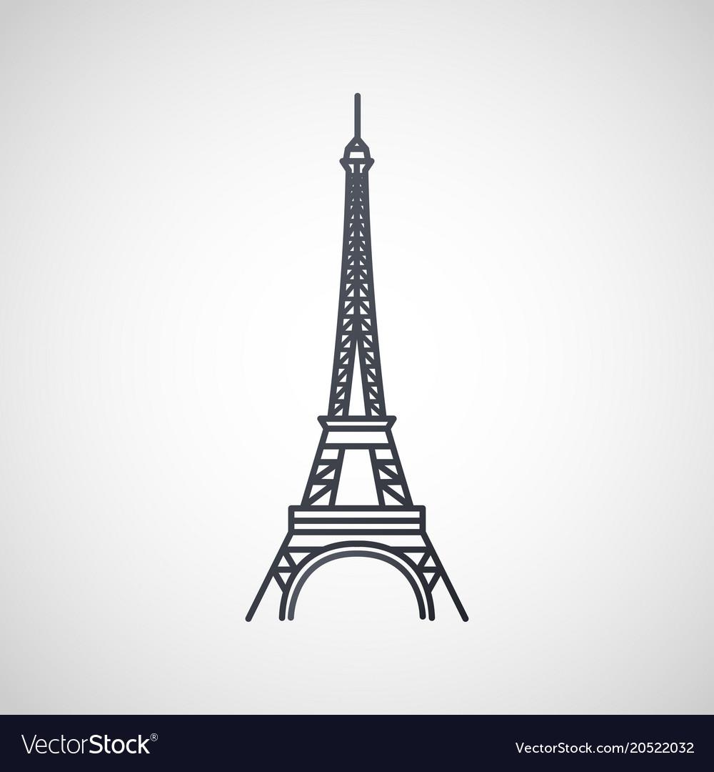 Eiffel tower logo icon design