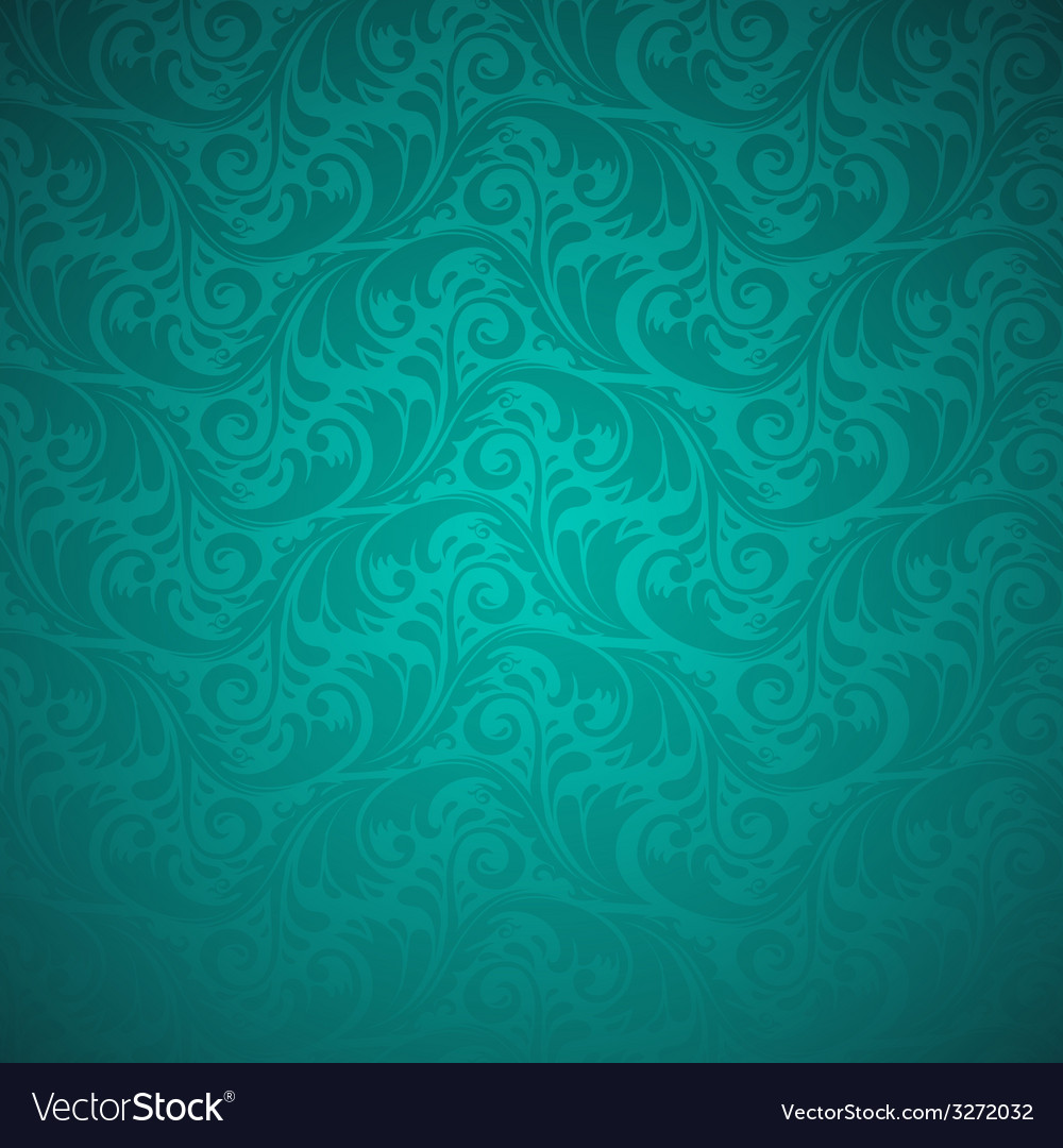 Emerald floral seamless pattern vector image