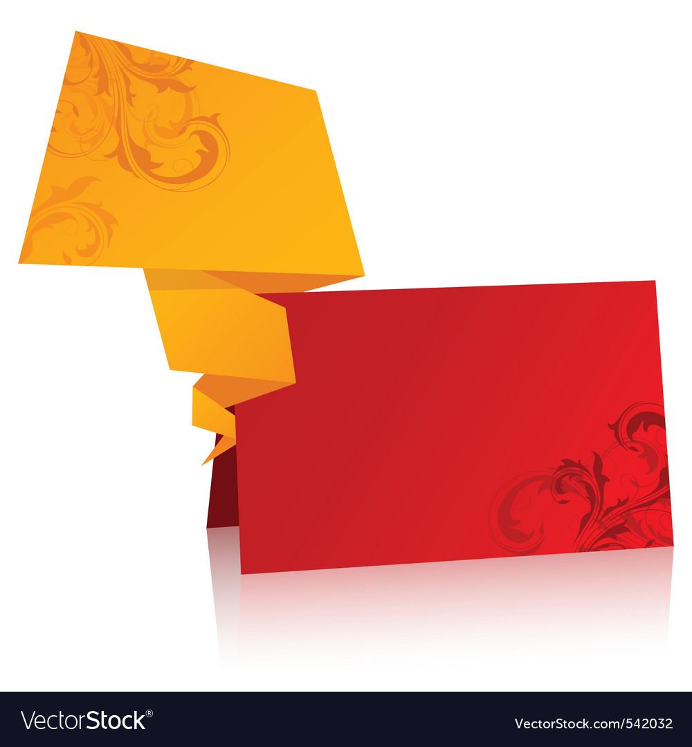 Paper origami speech bubble