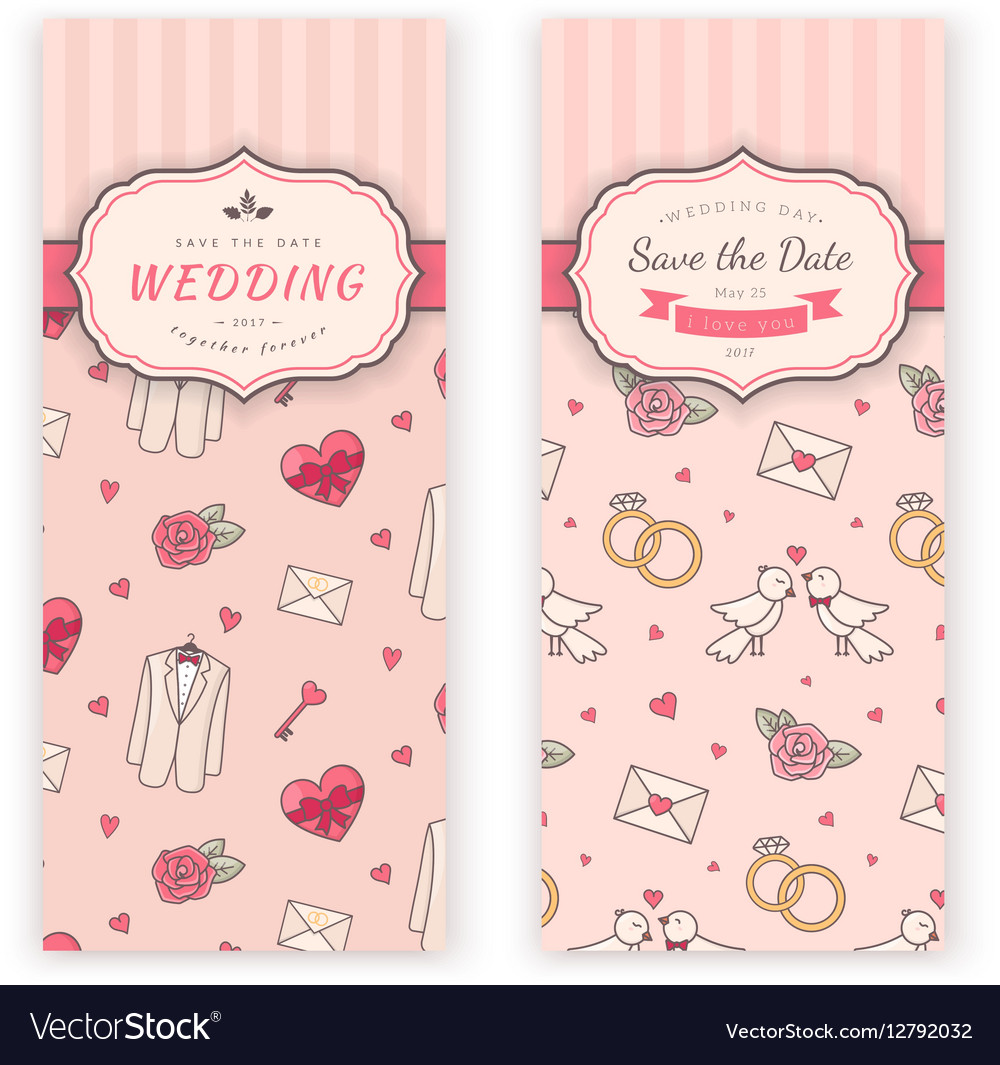 wedding banner template royalty free vector image