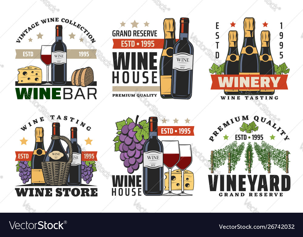 Wine bottles glasses grapes bread and cheese