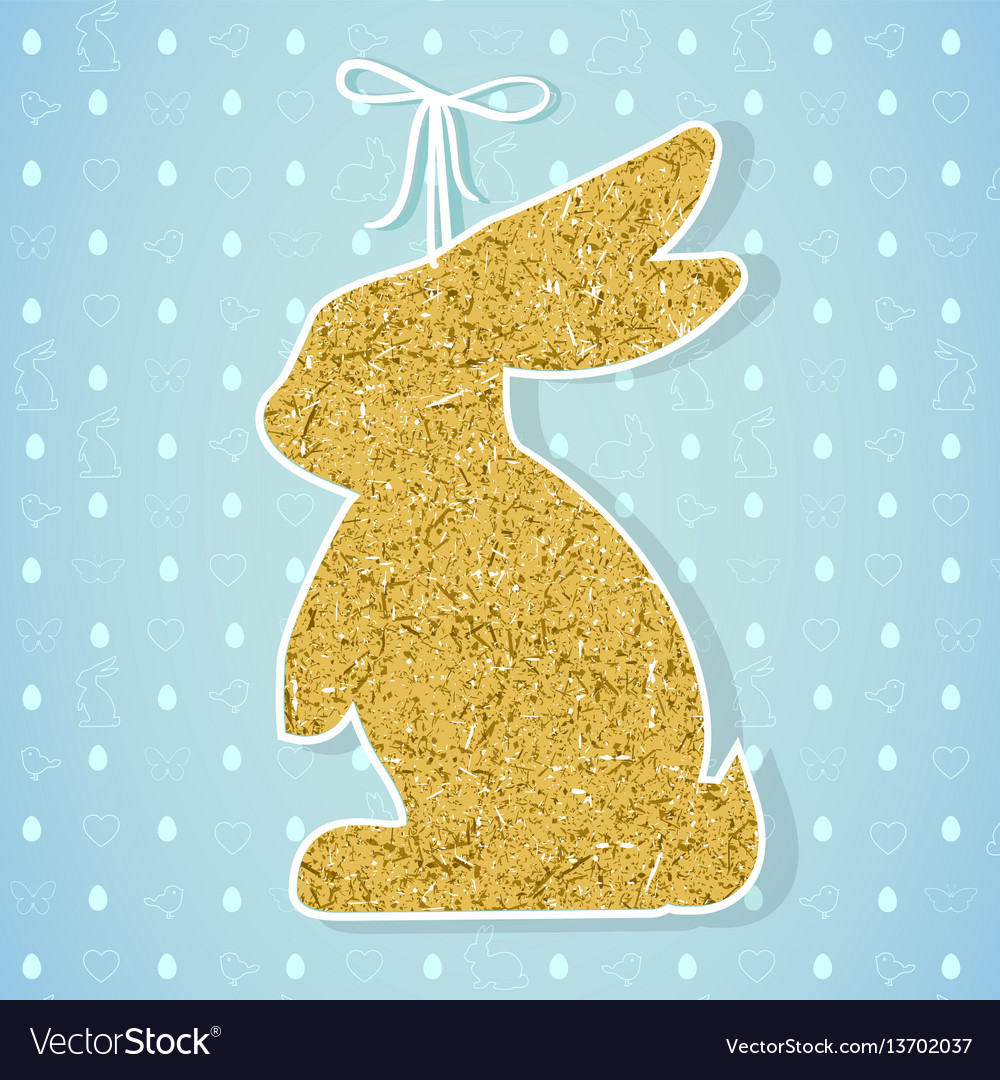 Easter paper decoration in the form of bunny
