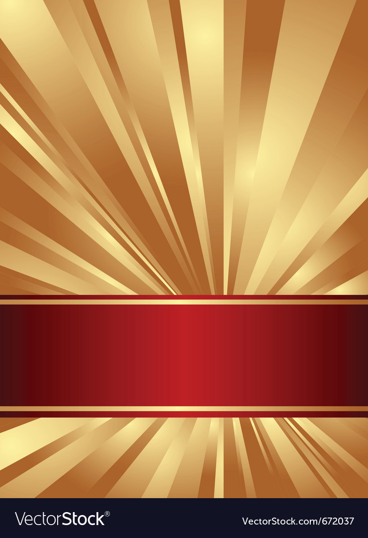 Gold And Red Background With Rays