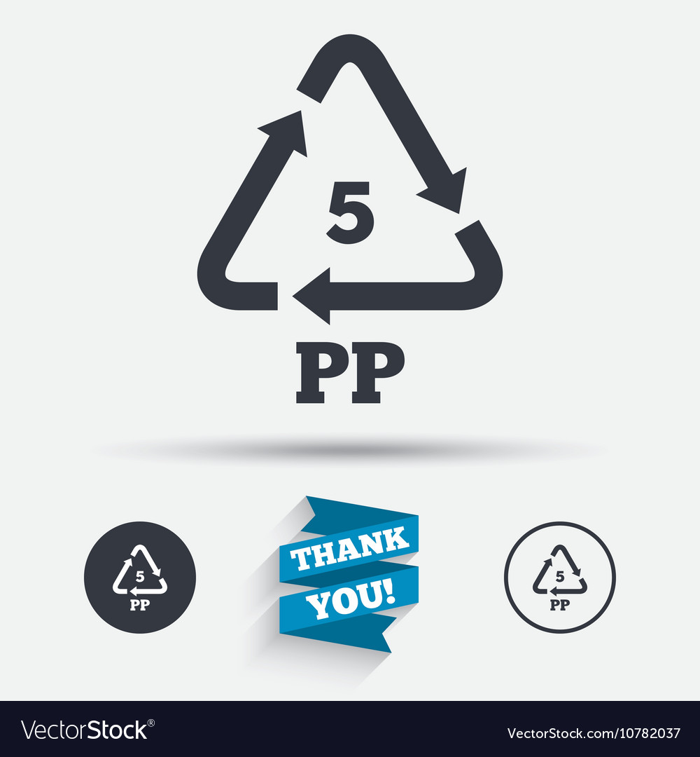 Pp 5 Icon Polypropylene Thermoplastic Polymer Vector Image