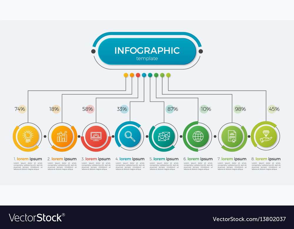Presentation infographic template 8 options