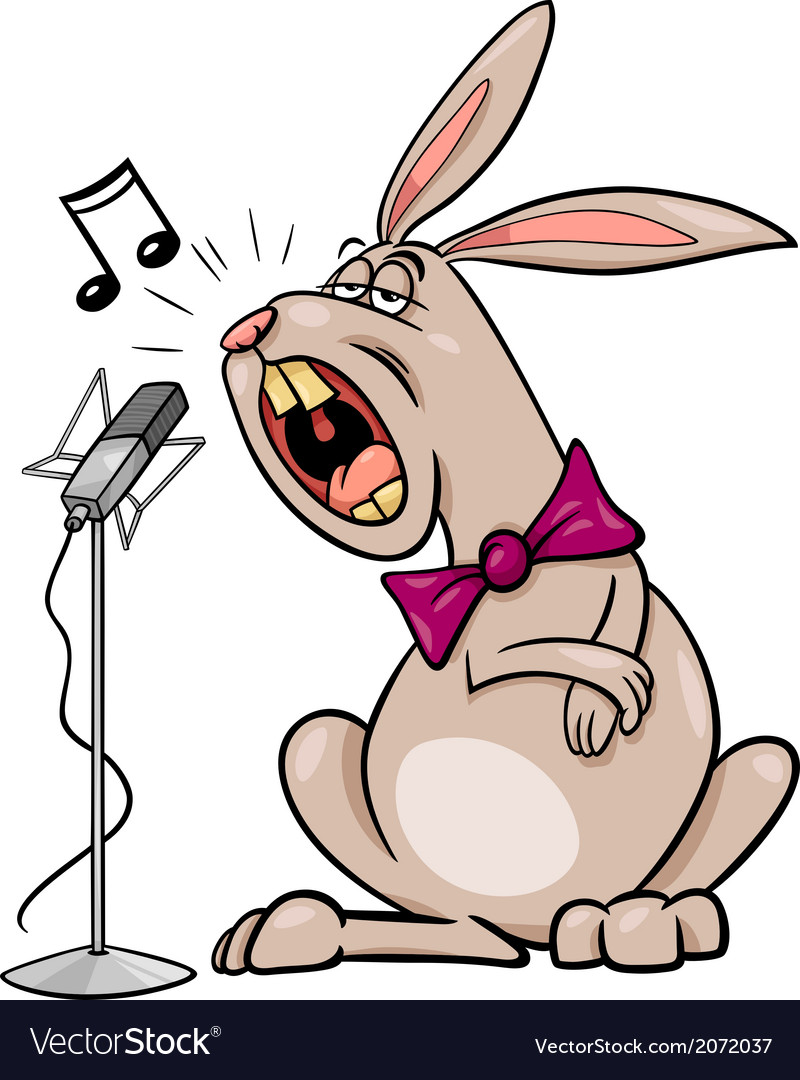 Singing Rabbit Cartoon Royalty Free Vector Image