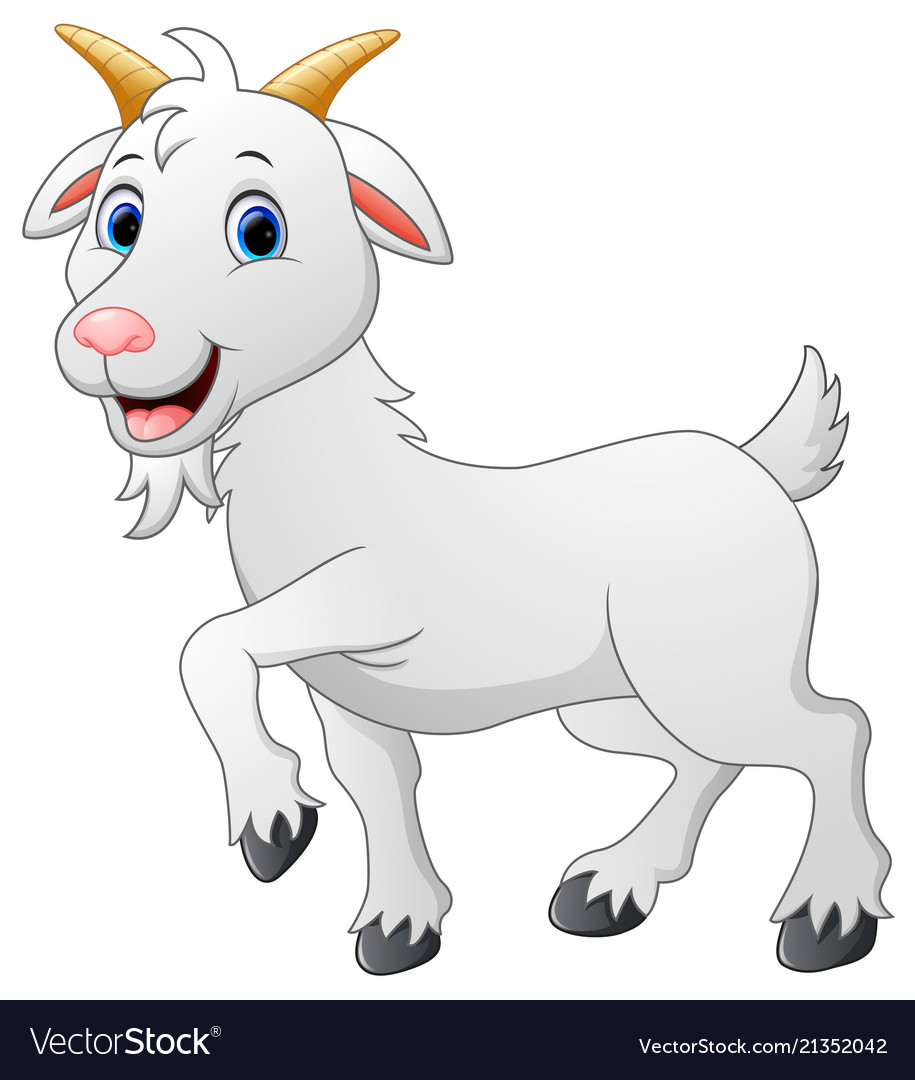 Cartoon goat character Royalty Free Vector Image