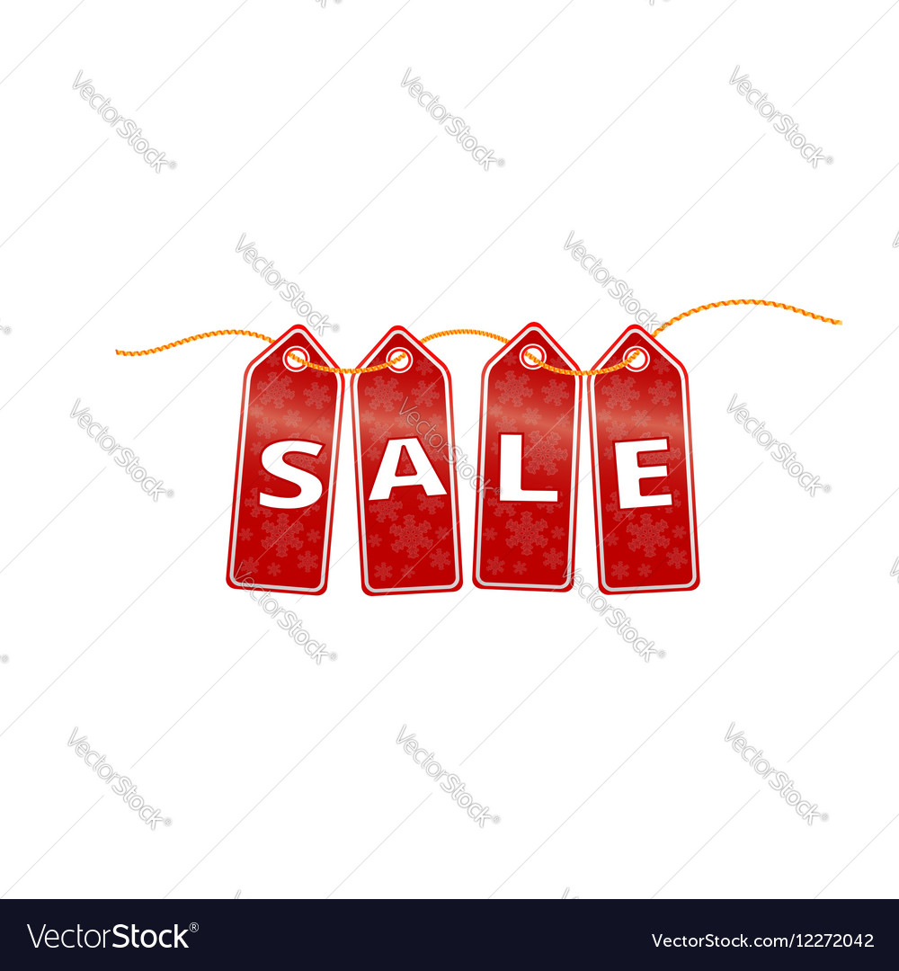 Christmas sale banner new year Discounts vector image