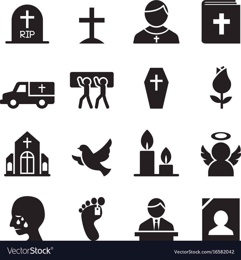 Funeral burial icon