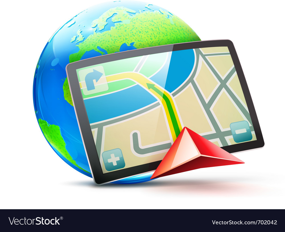 global positioning system royalty free vector image