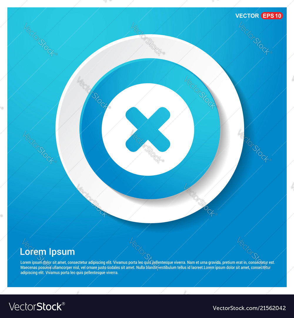 Multiply icon abstract blue web sticker button