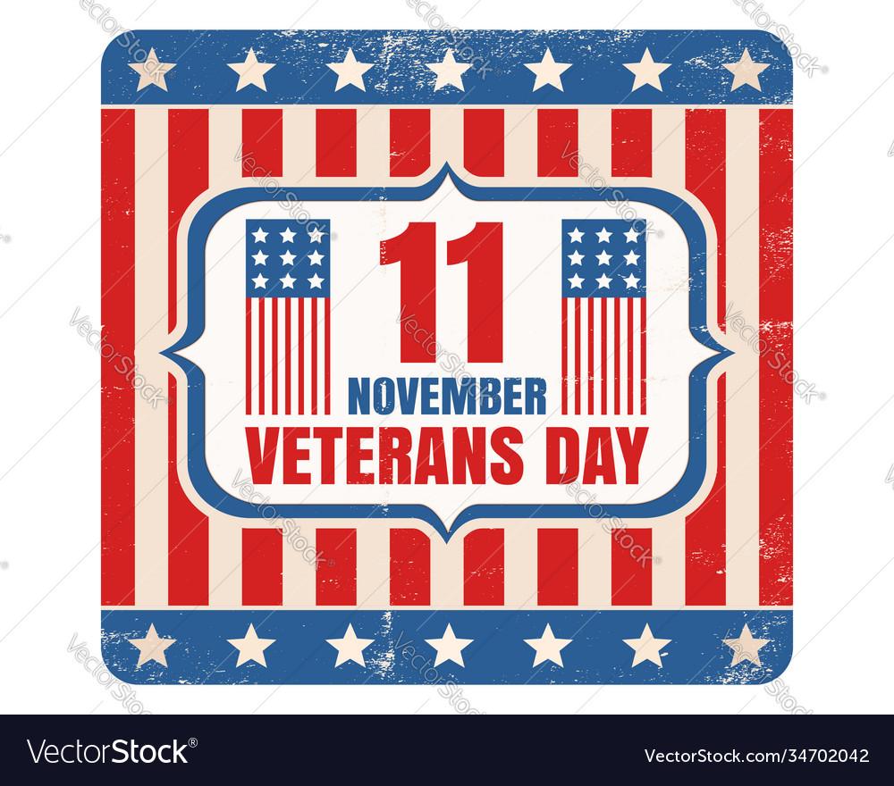 Retro emblem for american veterans day