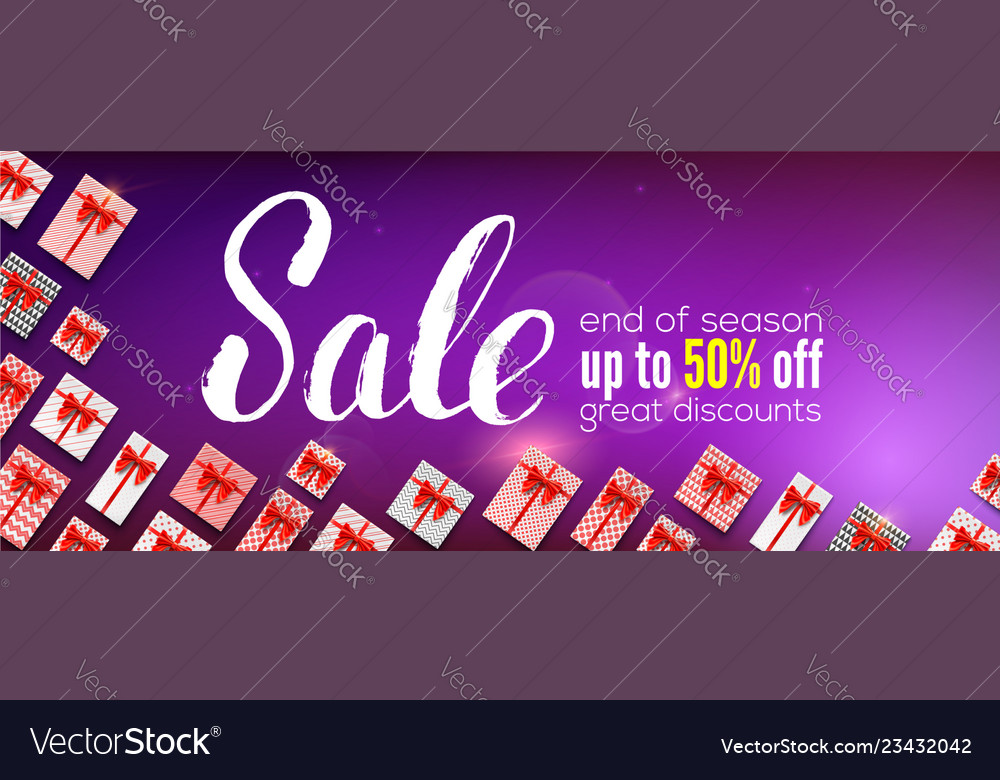 Sale banner with handwritten lettering