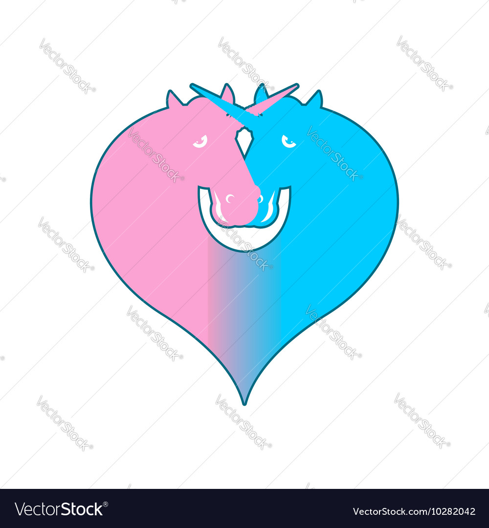 Unicorn Lgbt Symbol Community Sign Of Love And Two