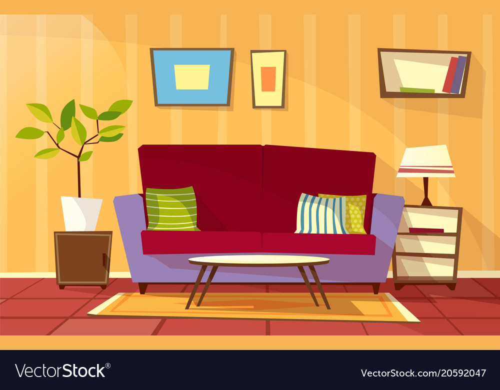 Living room cartoon image baci living room for Cartoon picture of a living room