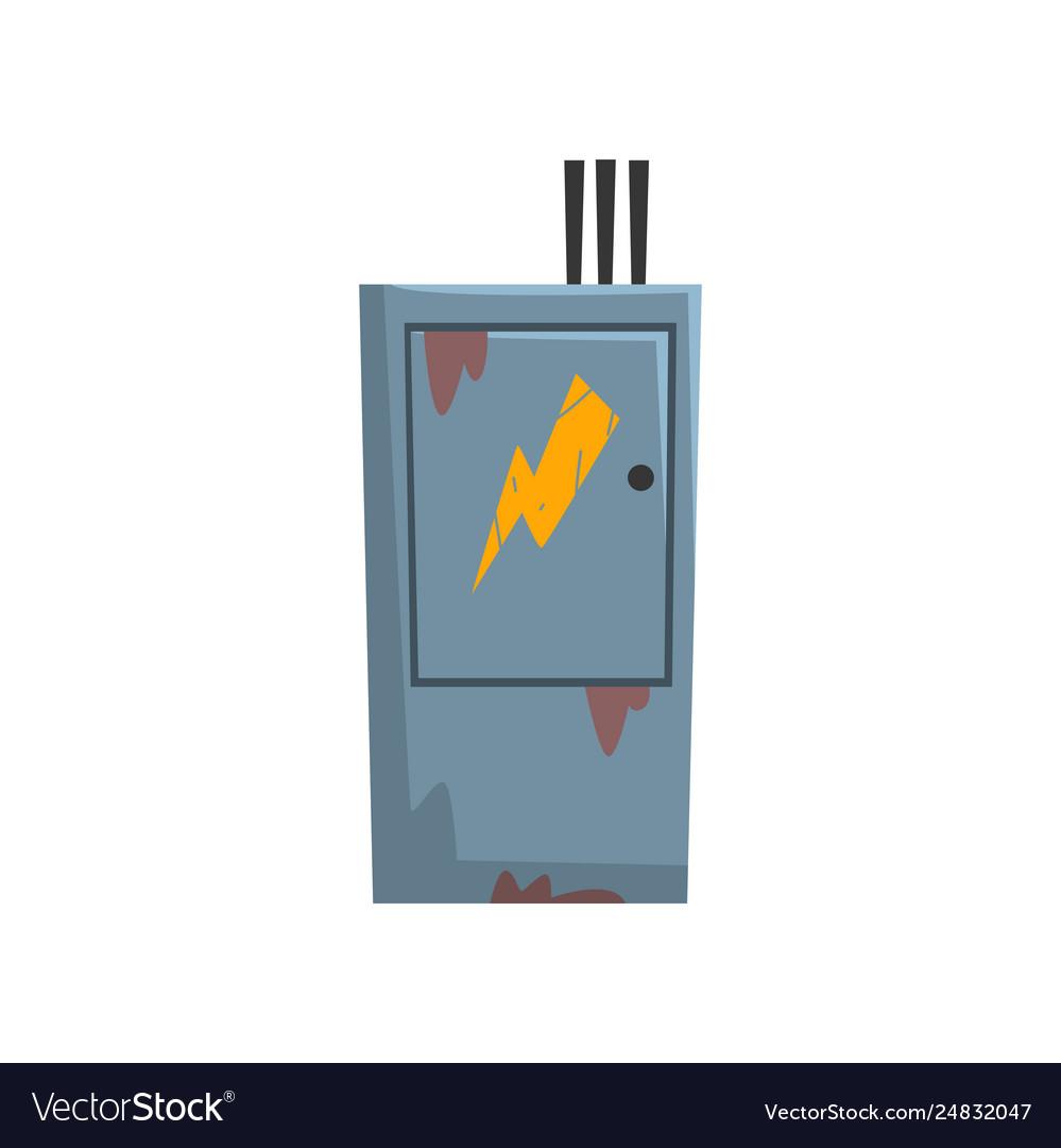 electric breaker fuse box electrical equipment vector image. Black Bedroom Furniture Sets. Home Design Ideas