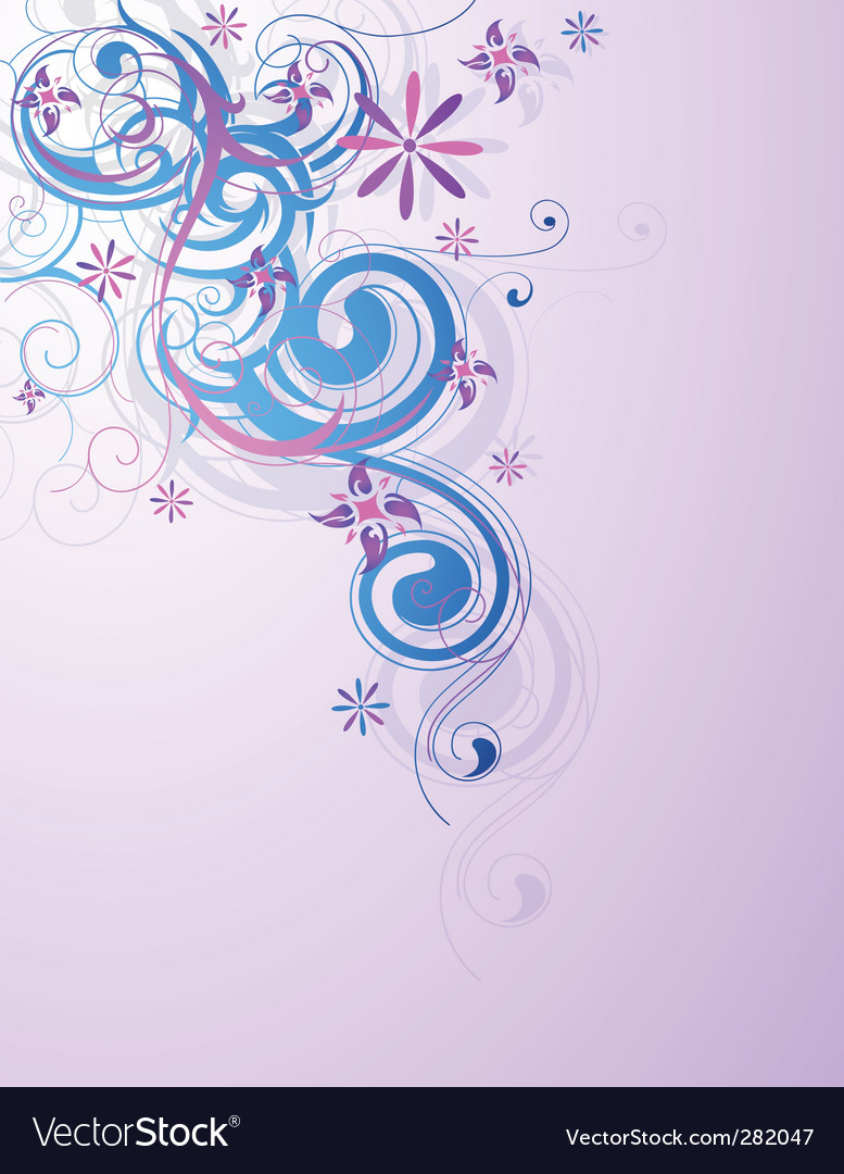Floral and decorative design vector image