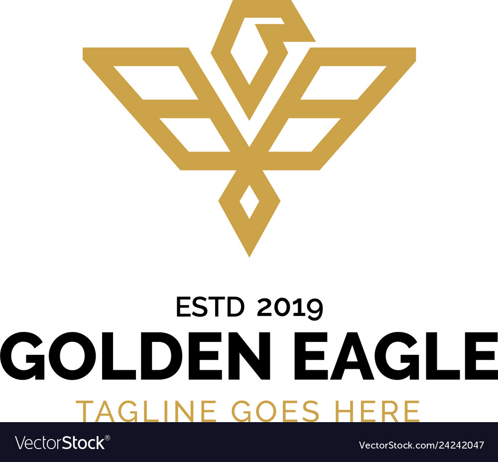 Gold eagle logo design inspiration