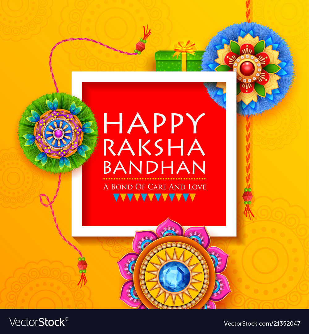 Rakhi Greetings With Name Choice Image Greetings Card Design Simple