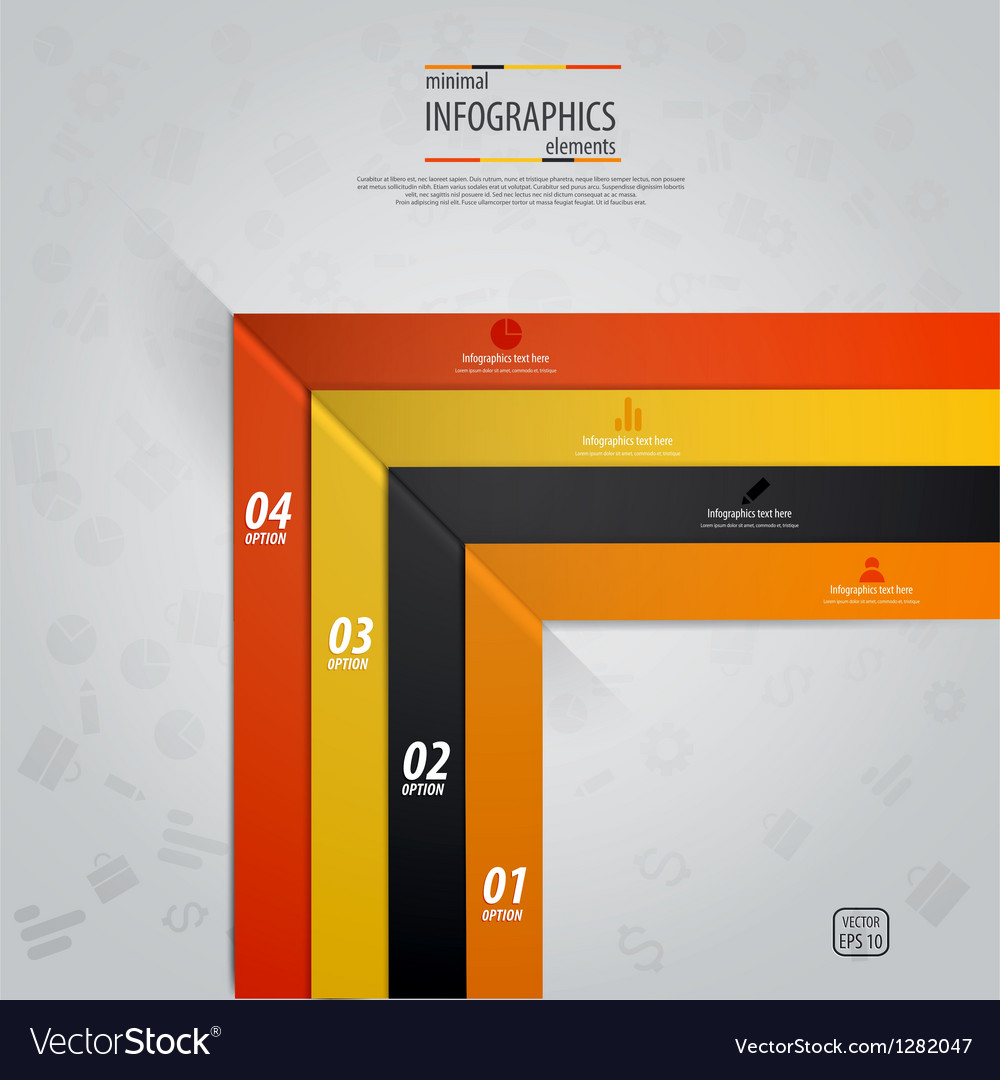 Line infographics 4 vector image