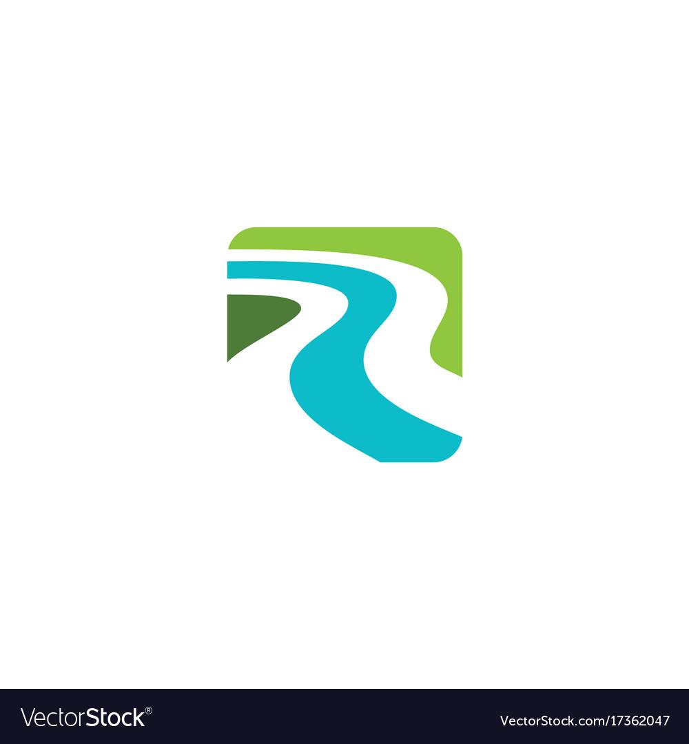 river abstract logo royalty free vector image vectorstock vectorstock