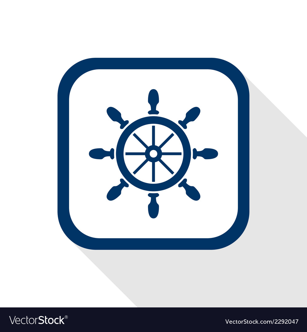 Rudder flat icon vector image