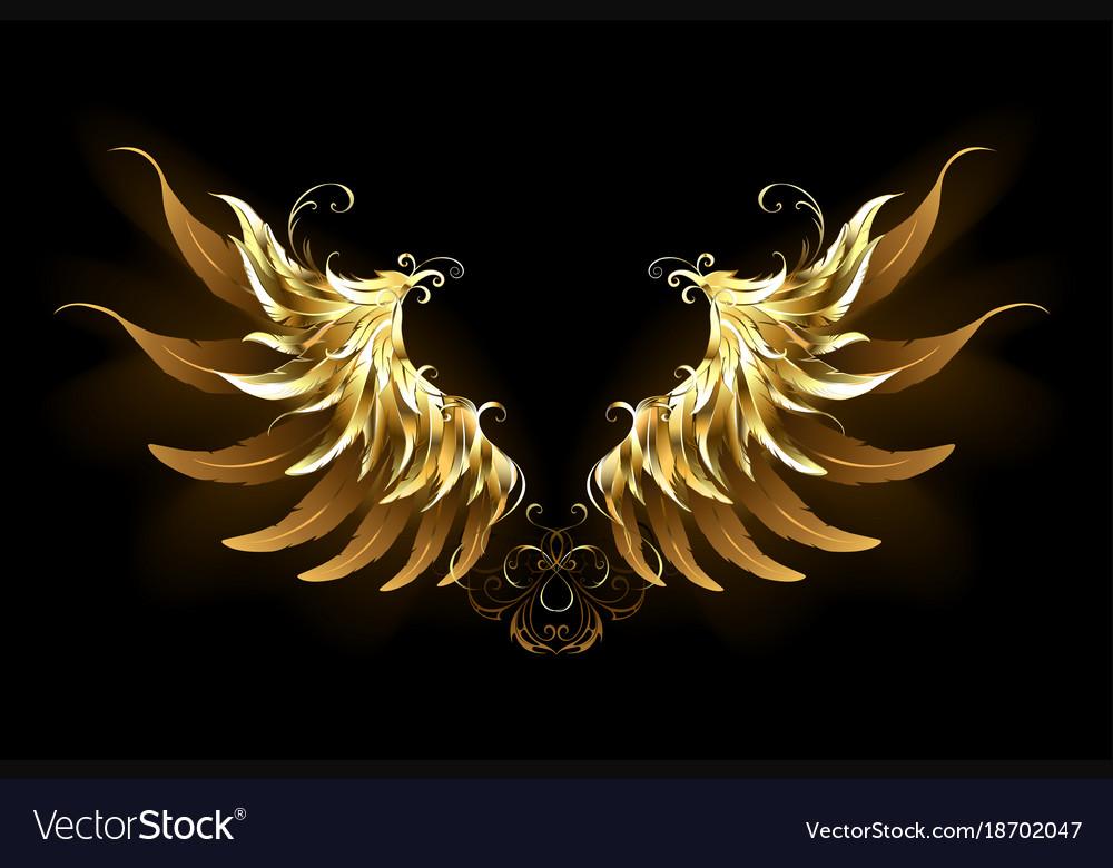 Shiny angel wings