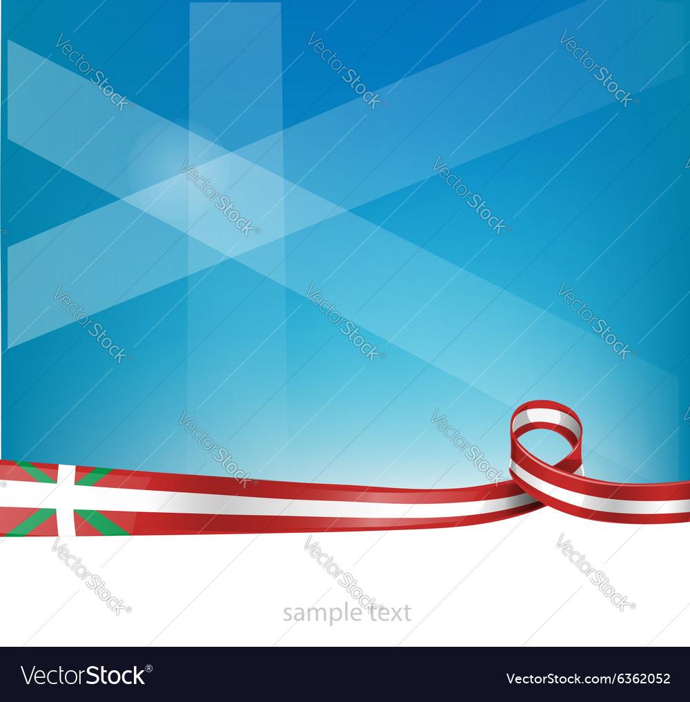 Basque ribbon flag vector image