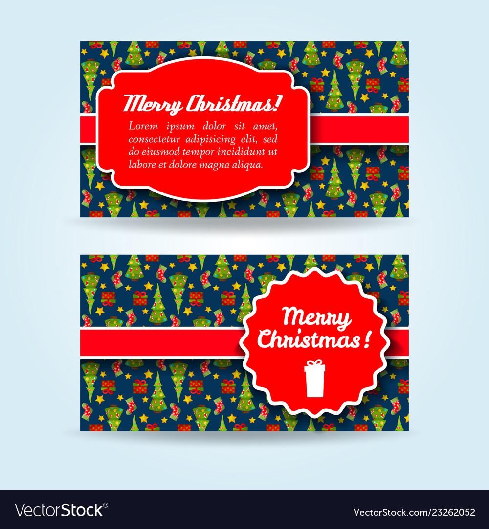 Christmas holiday banners set