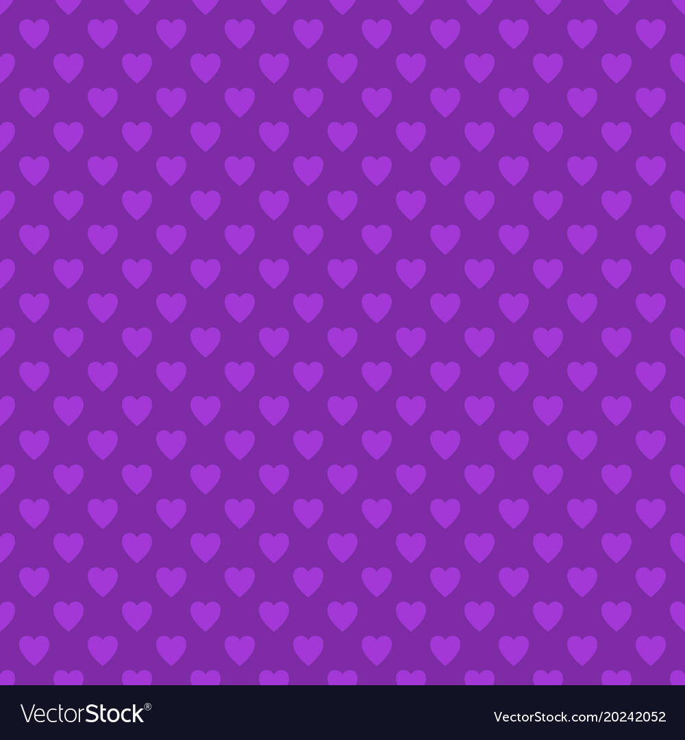 Repeating purple heart pattern background design