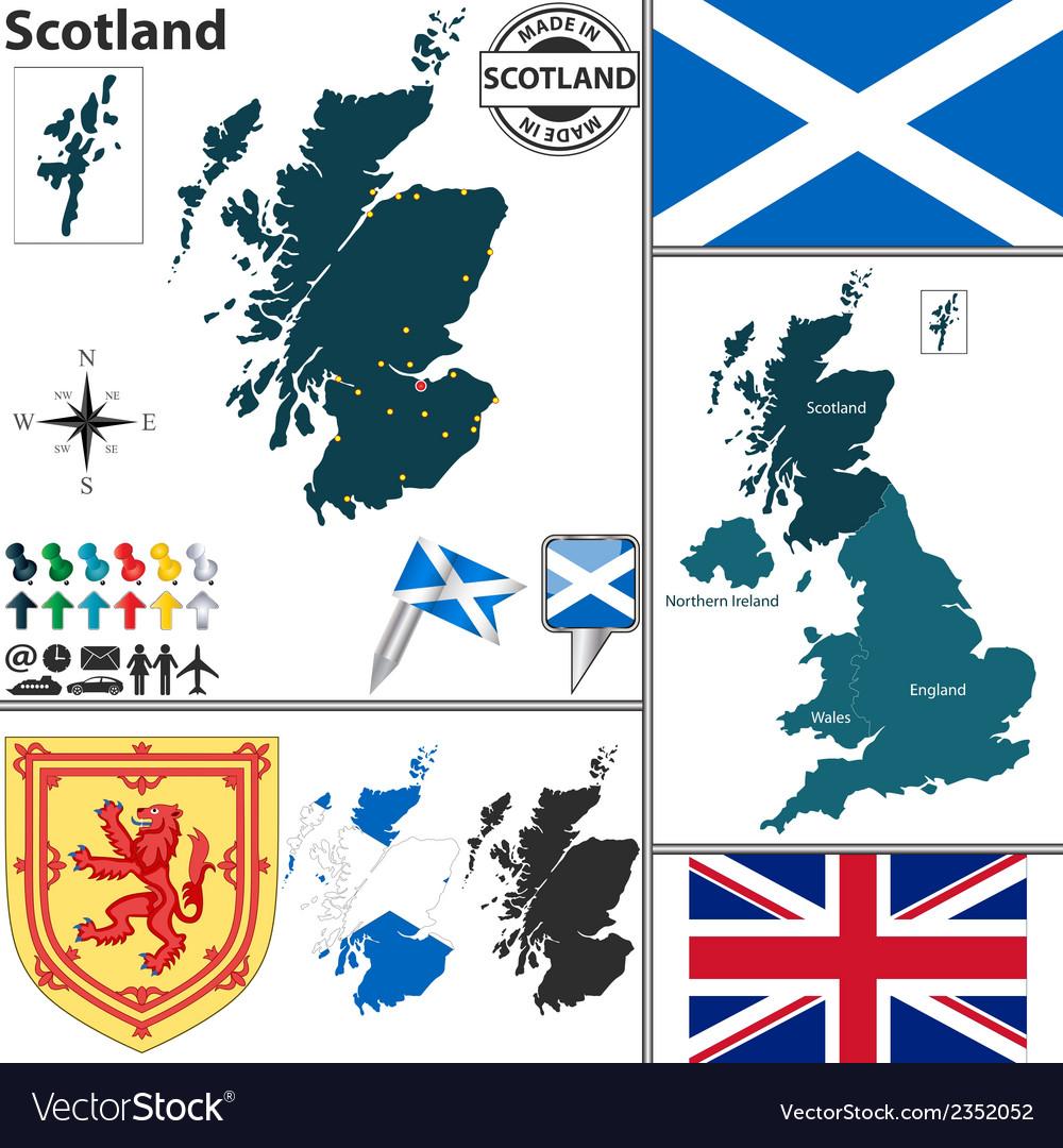 Scotland Map Royalty Free Vector Image Vectorstock