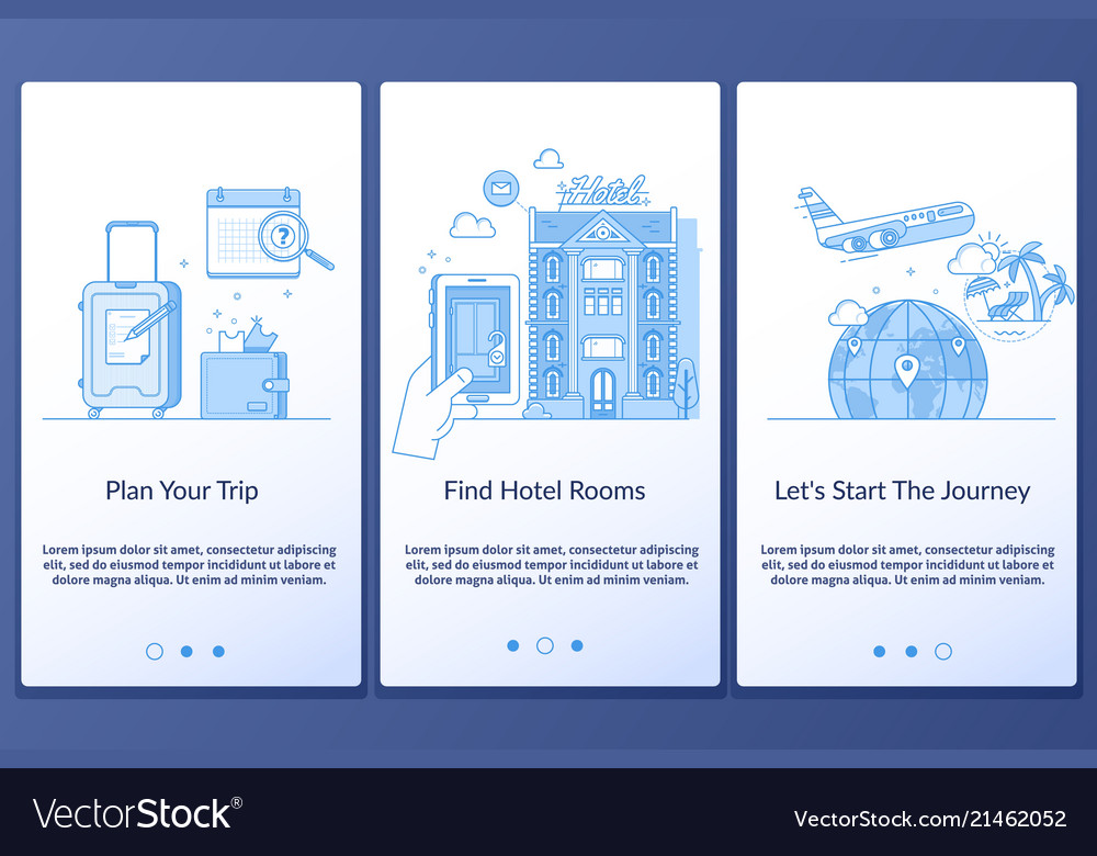 Travel infographics web design vacation booking