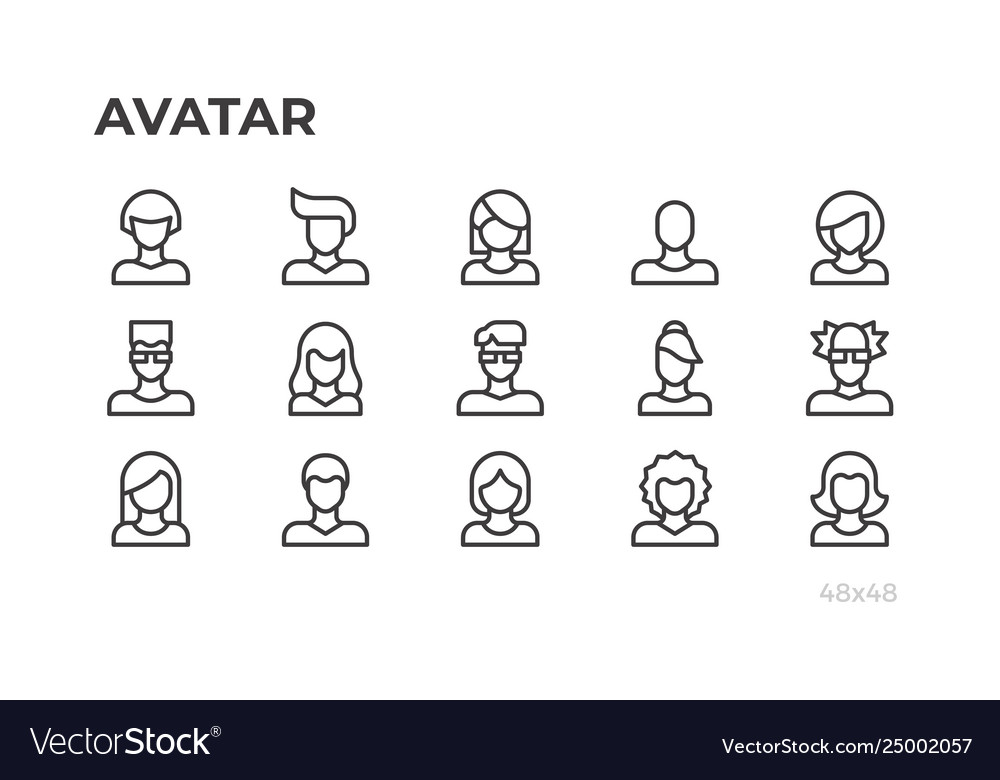 Avatars users icons and profile pictures