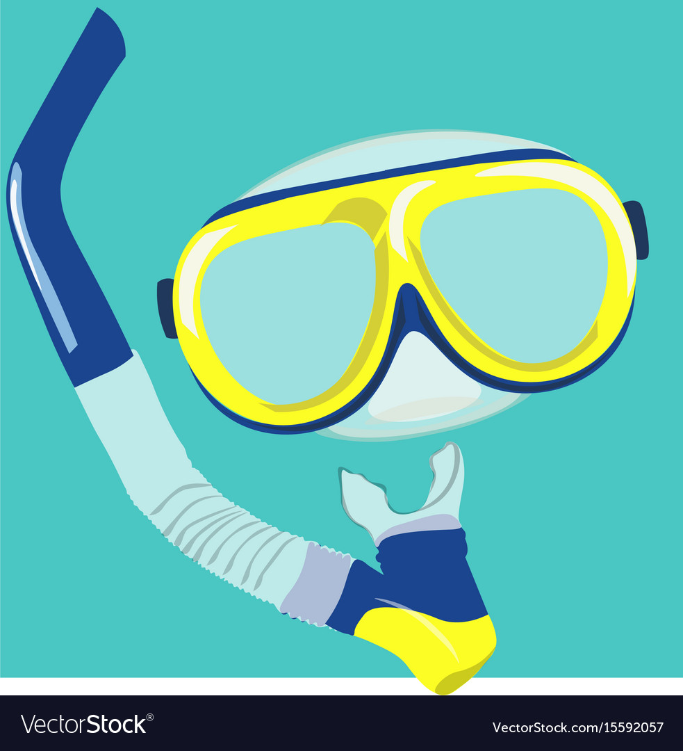 Dive mask and snorkel for professionals