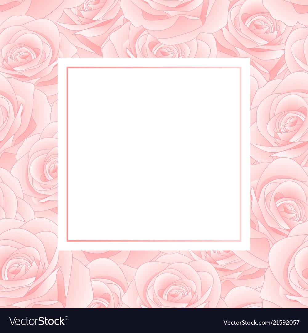 Pink rose banner card