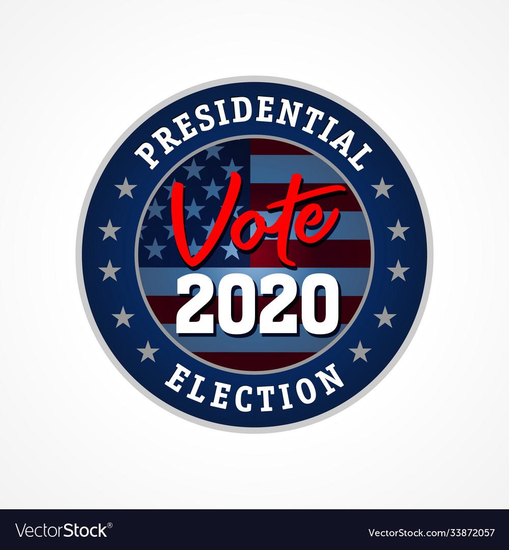 Presidential election usa vote 2020 star emblem