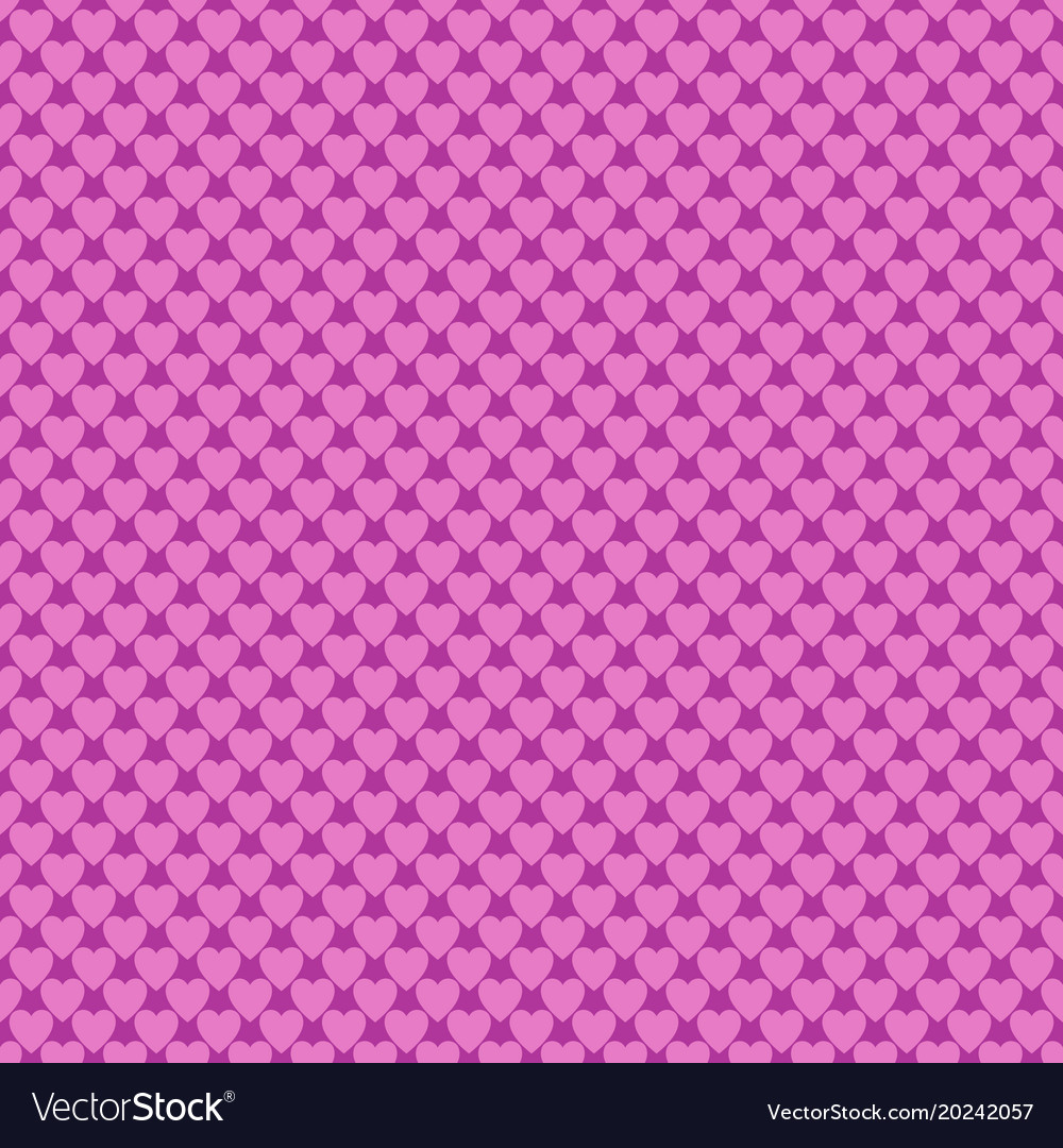 Seamless pink heart pattern background - love vector image