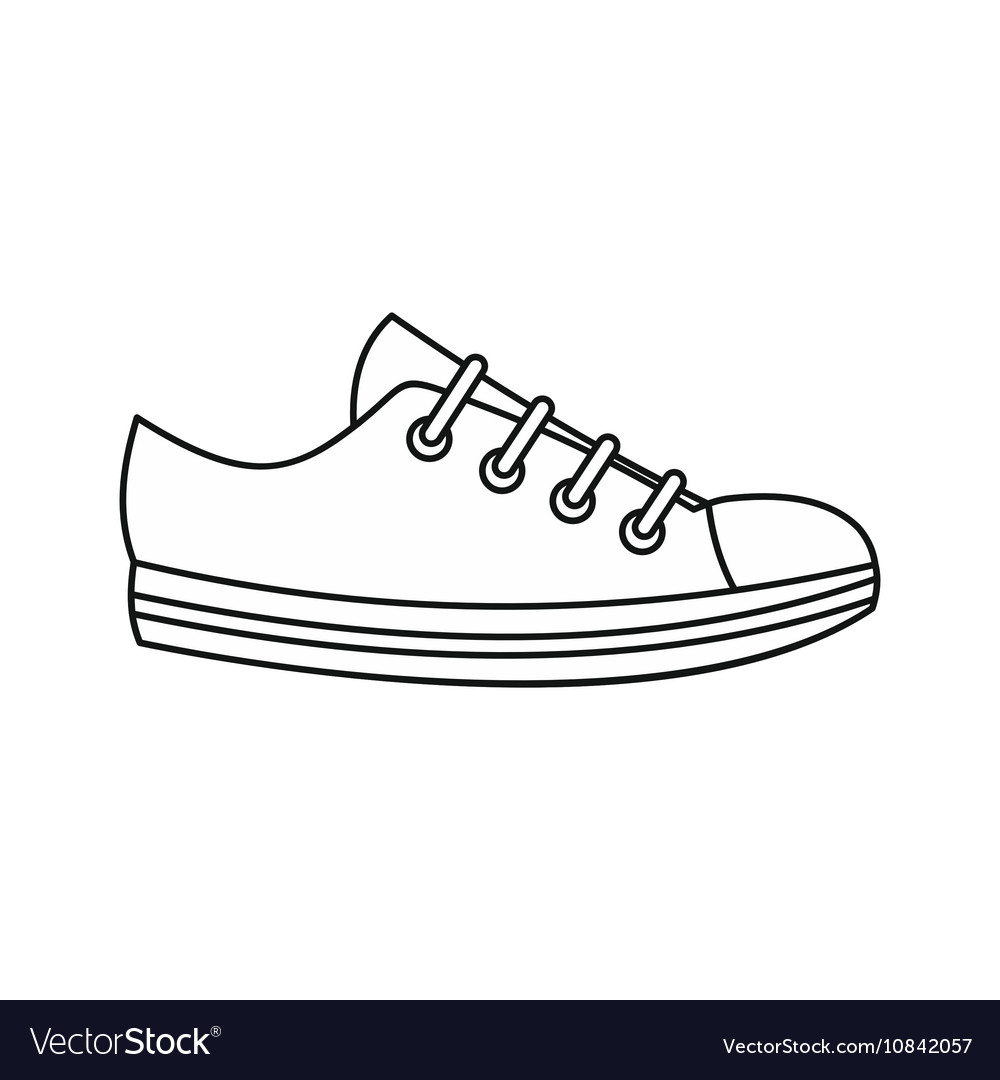 Sneaker icon outline style