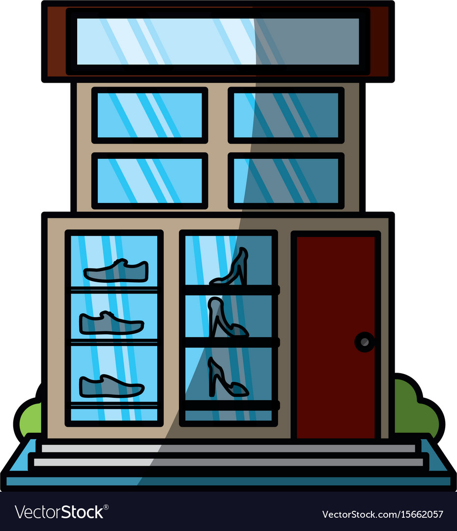 Store retail shoe shop vector image