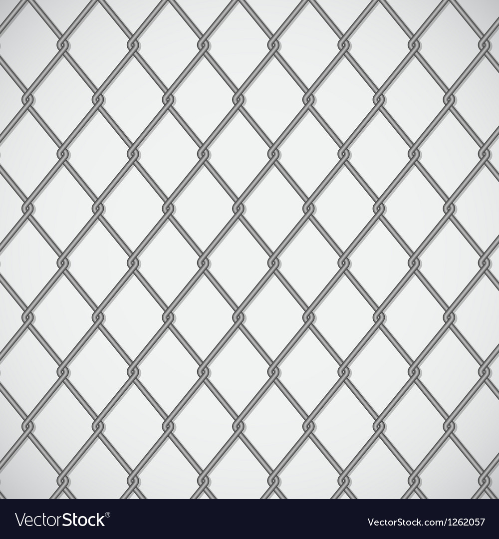 Wire fence on white background Royalty Free Vector Image