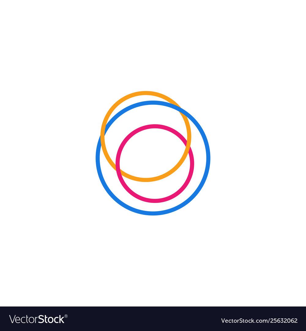 Abstract circle line logo icon