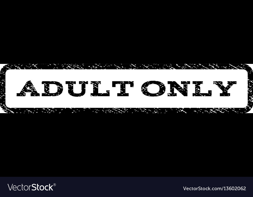 Adult only watermark stamp vector image