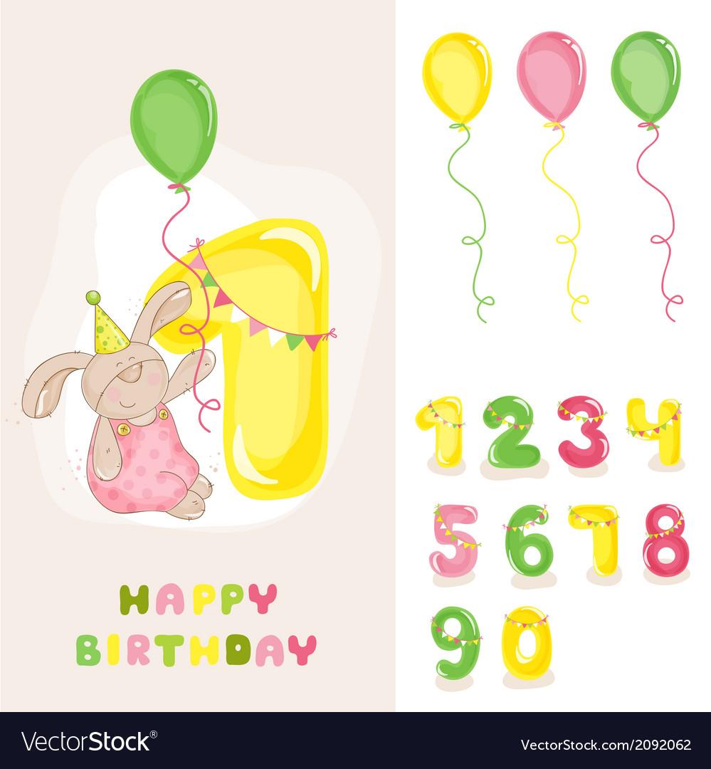 Baby Bunny Birthday Card