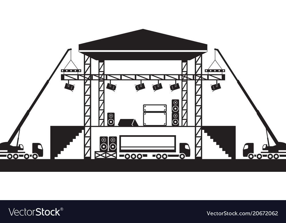 Building of musical stage