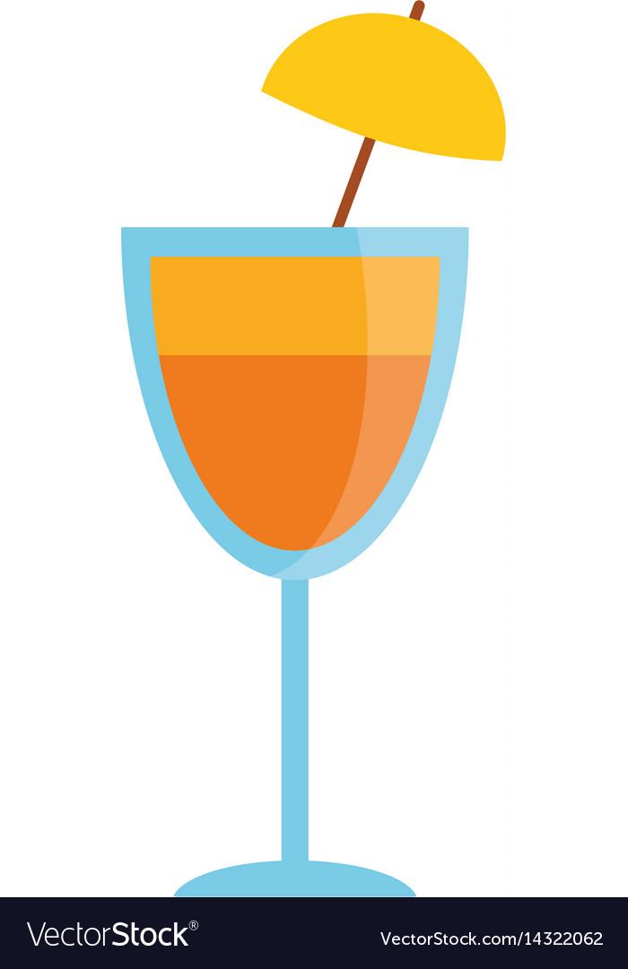 Cocktail cup umbrella drink